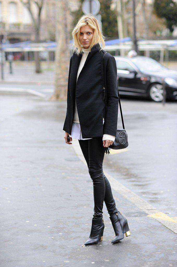 PFW Model Street Style Day One 2 Paris Fashion Week: Modeli vole crnu