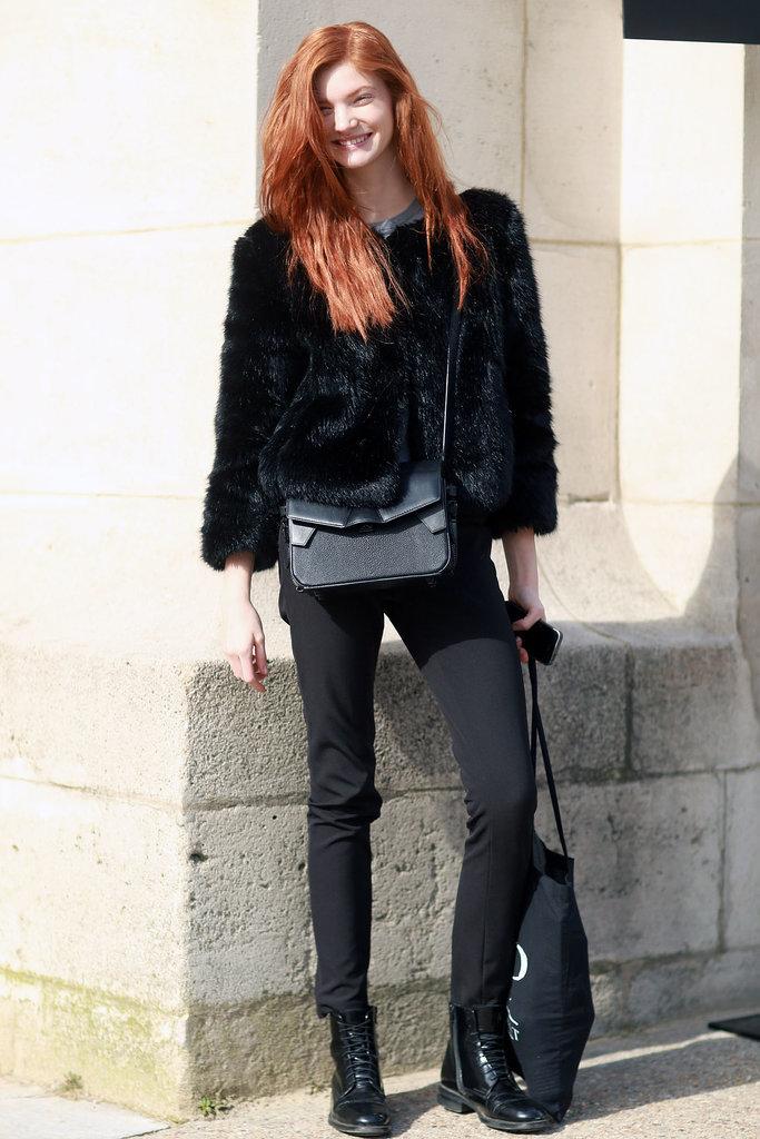 PFW Model Street Style Day One 3 Paris Fashion Week: Modeli vole crnu