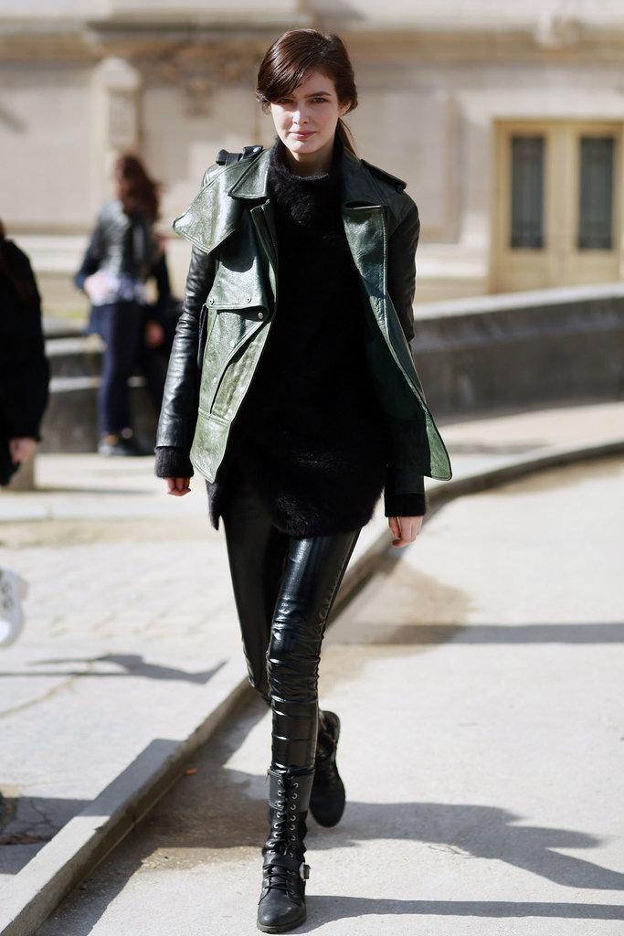 PFW Model Street Style Day One 4 Paris Fashion Week: Modeli vole crnu