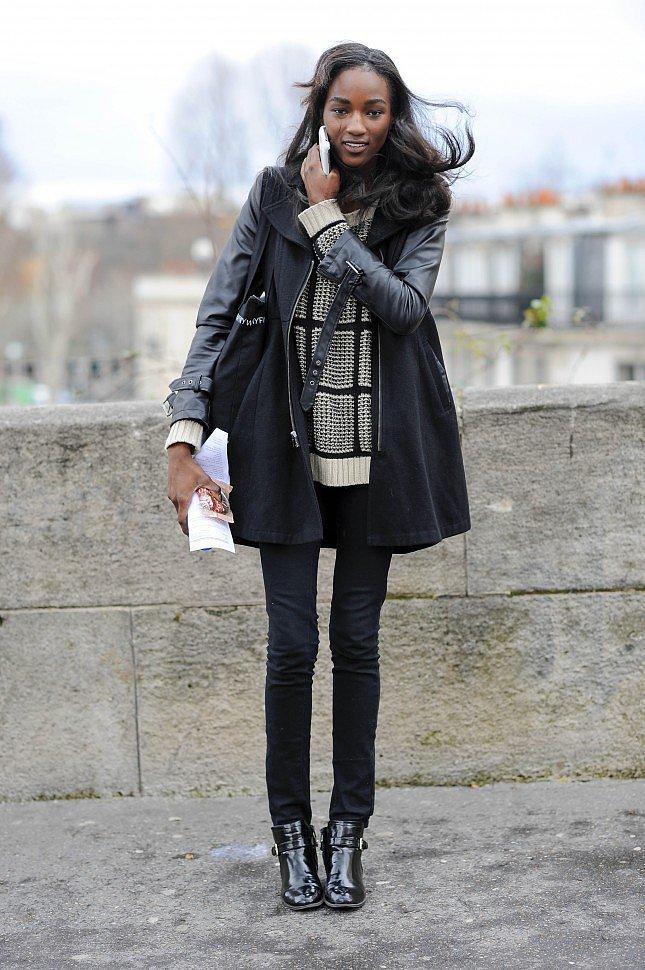PFW Model Street Style Day One 5 Paris Fashion Week: Modeli vole crnu