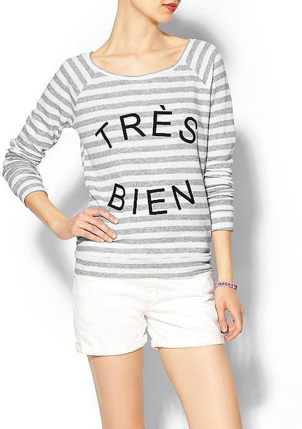 Pim Larkin Très Bien T shirt Učimo francuski, a volimo modu