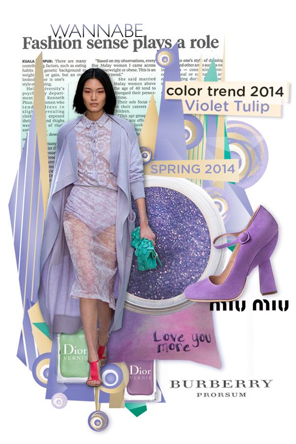 Slika 1.Burberry Prorsum Wannabe Fashion Color Report: Violet Tulip