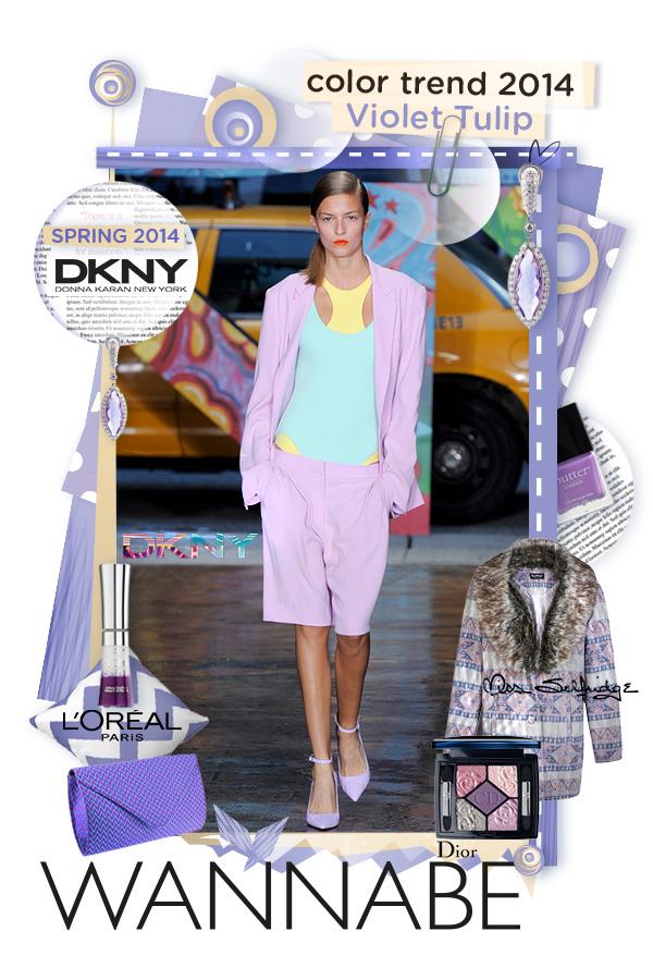 Slika 5. DKNY Wannabe Fashion Color Report: Violet Tulip