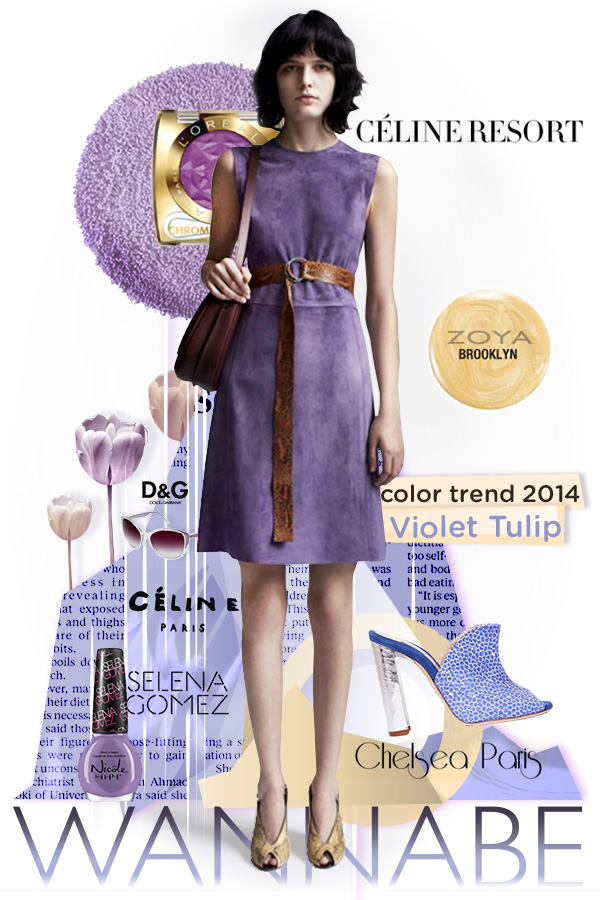 Slika2.Celine Wannabe Fashion Color Report: Violet Tulip