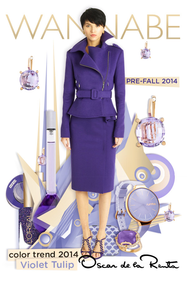 Slika3. Oscar de la Renta Wannabe Fashion Color Report: Violet Tulip