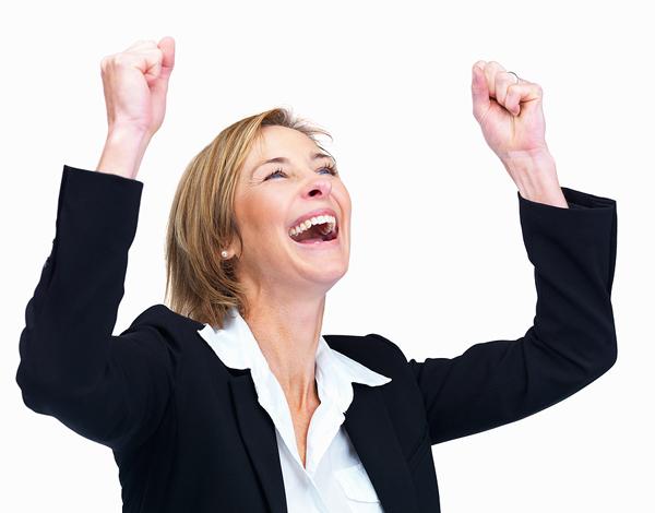 Success woman big stock Radi za sebe kao što radiš za druge