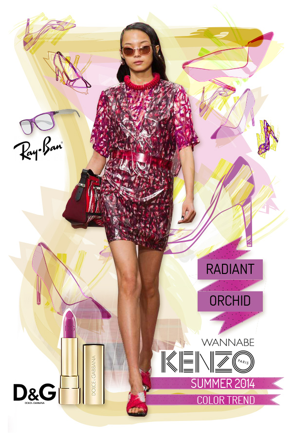 kenzo radiant orchid wannabe Fashion Color Report: Magična boja Radiant Orchid