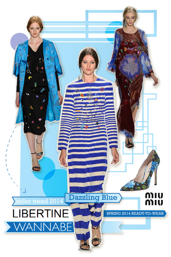 libertine dazzling blue wannabe Fashion Color Report: Zaslepljujuća plava