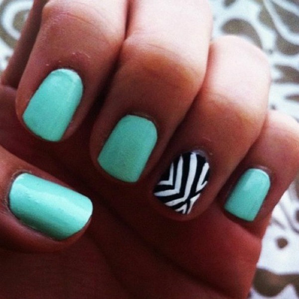 light blue nail designs tumblr Modni trend: Svetloplava boja