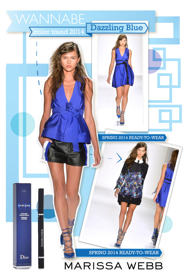 marissa webb dazzling blue wannabe Fashion Color Report: Zaslepljujuća plava