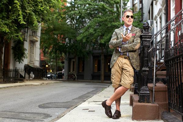 menswear nick wooster street style fashion inspiration army beige 001 Street Style zvezda: Nik Vuster
