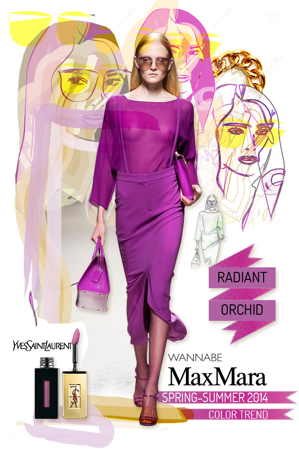 radiant orchid max mara wannabe Fashion Color Report: Magična boja Radiant Orchid