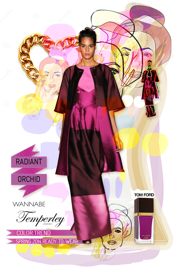 radiant orchid temperley london wannabe Fashion Color Report: Magična boja Radiant Orchid