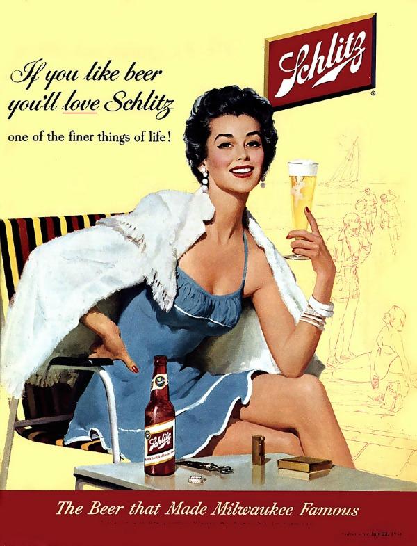 107 Vintage reklame za pivo sa ženama