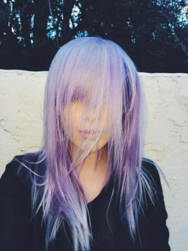 139 Ljubičasta boja kose je novi trend