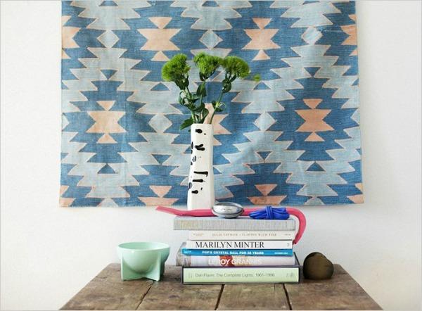 17 Trik za dekoraciju sobe: Umetnički tekstil za zid