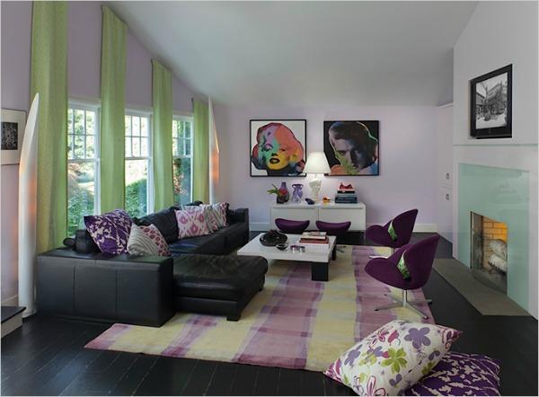 47 Radiant Orchid boja u enterijeru