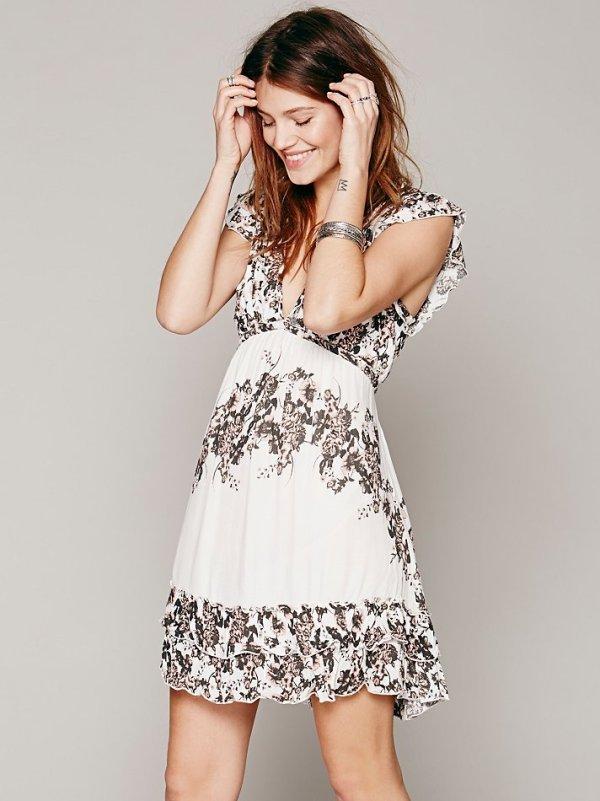 600xNxrose print dress.jpg.pagespeed.ic .G6nzii ao2 Haljine koje volimo: Lepršavo, lepršavije