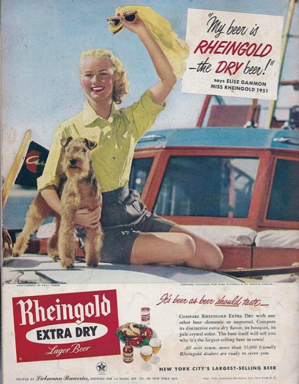 624 Vintage reklame za pivo sa ženama
