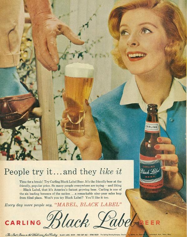 720 Vintage reklame za pivo sa ženama
