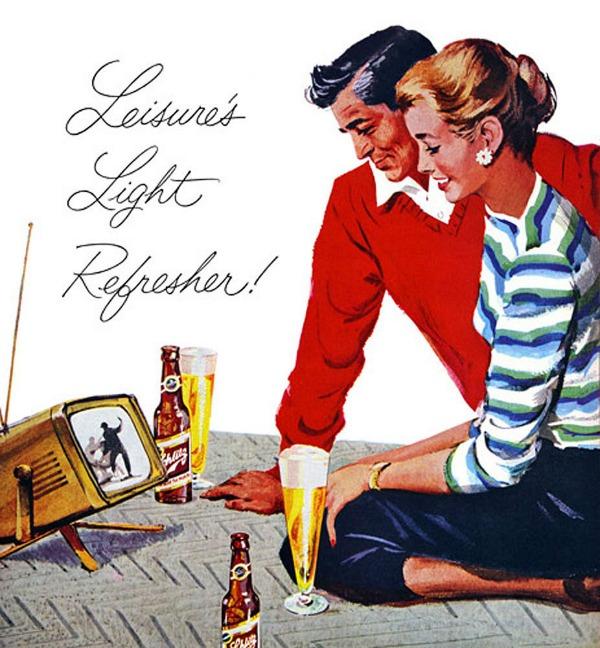 816 Vintage reklame za pivo sa ženama