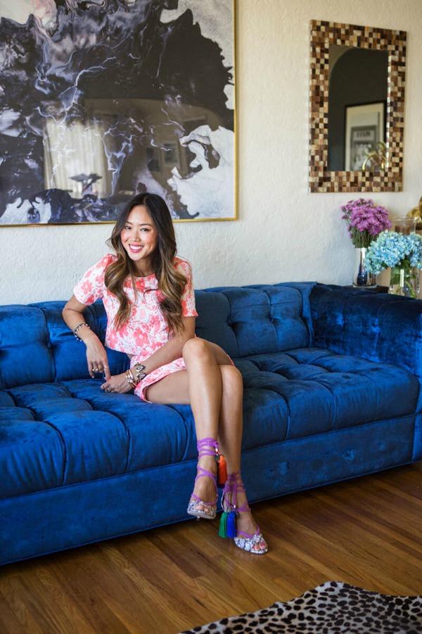 Ami Song Dnevna soba Zavodljiv enterijer doma poznate blogerke: Ejmi Sung