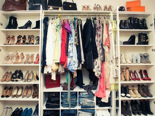 Ami song garderober 2  Zavodljiv enterijer doma poznate blogerke: Ejmi Sung