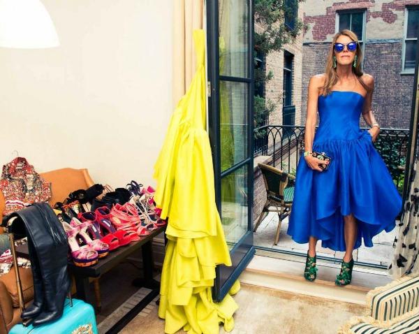 Ana Delo Ruso plava haljina  Legendarna modna ikona kakvu do sada niste videli: Ana Delo Ruso