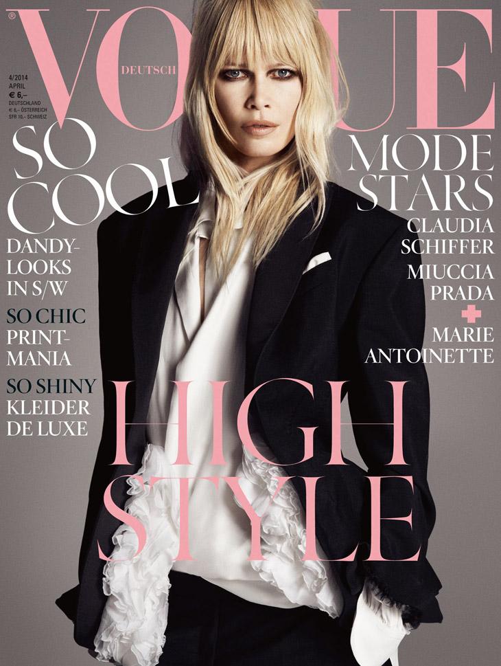 Claudia Schiffer Vogue Germany April 2014 Klaudija, godine ti ne mogu ništa