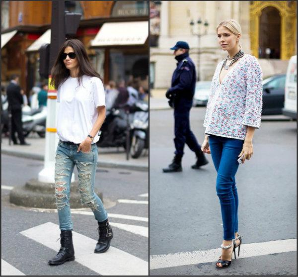 Collage. 1jpg Street Style: Džins manija