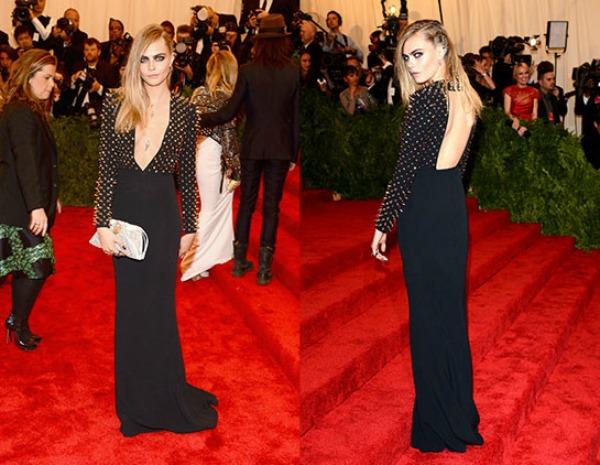 Duboko dekoltirana haljina sa bodljama smelo i u trendu 10 haljina: Kara Delevinj