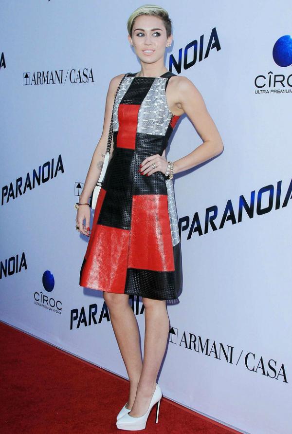 Miley Cyrus Proenza Schouler dress Paranoia Premiere 10 haljina: Majli Sajrus