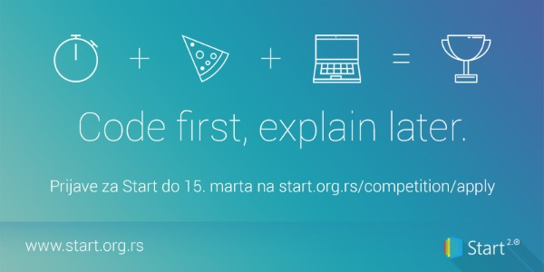 Slika 117 Prijave za Start 2.0 hakaton otvorene su do 15. marta