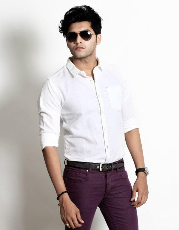 basics white plain men shirt 12bsh28040 Ovakve košulje mora imati svaki muškarac
