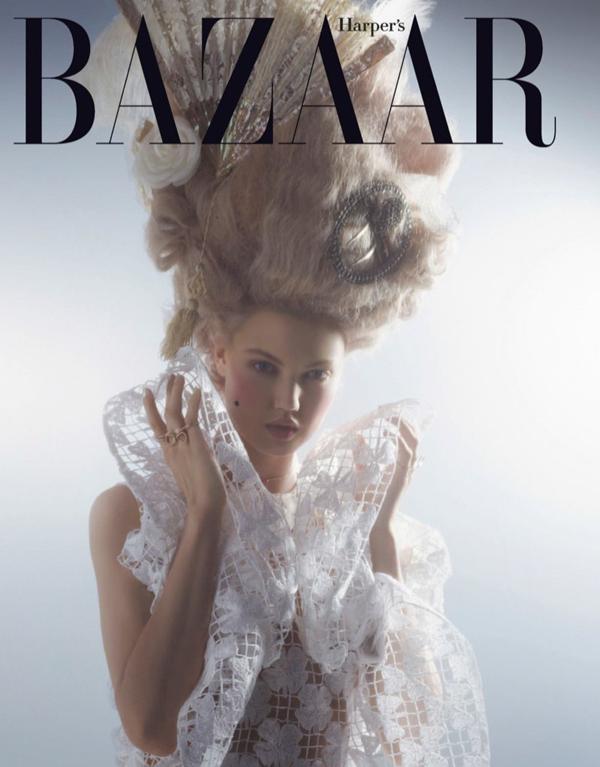 couture marie antoinette1 Karl Lagerfeld i Lindzi Vikson za Harpers Bazaar