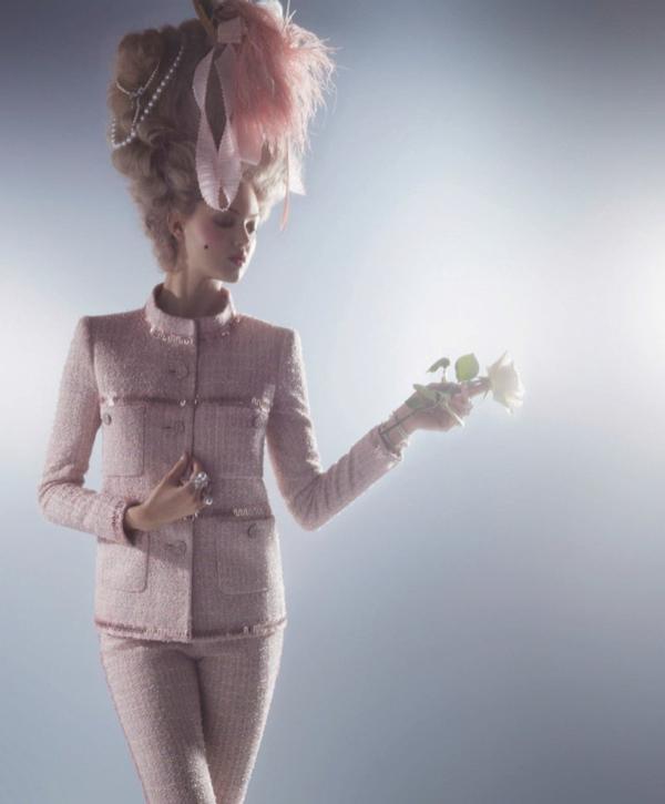 couture marie antoinette2 Karl Lagerfeld i Lindzi Vikson za Harpers Bazaar