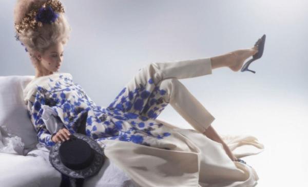 couture marie antoinette6 Karl Lagerfeld i Lindzi Vikson za Harpers Bazaar