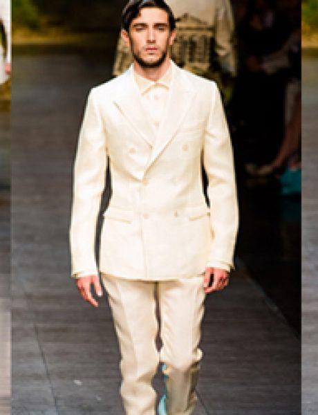 Muška moda: Belo na belo