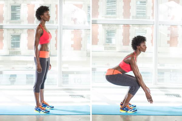 1 squat w724 Vežbe za zauzete žene