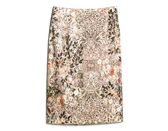 10 mango Novi trend: Pencil suknja sa printom