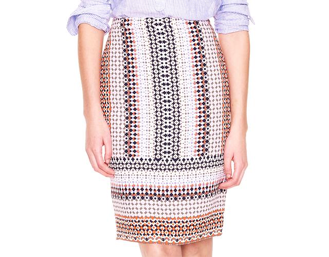 12 jcrew Novi trend: Pencil suknja sa printom