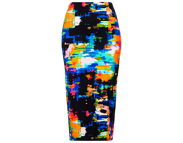 8 topshop Novi trend: Pencil suknja sa printom