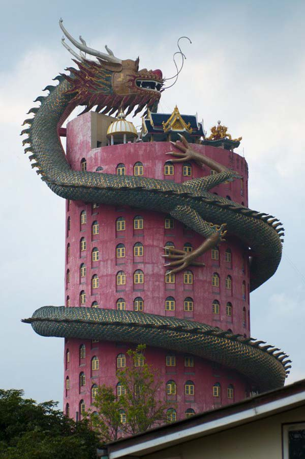 Dragon Temple Thailand 1 5 Wat Samphran: Najčudniji hram u Bangkoku