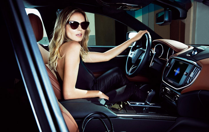 Heidi Klum Francesco Carrozzini Maserati 2014 04 Da li ste za brzu vožnju sa Hajdi Klum?