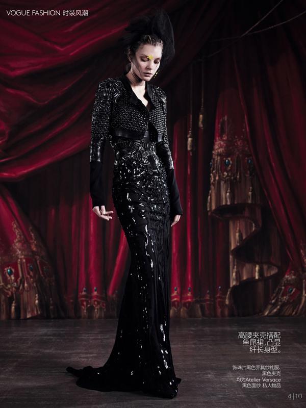 Jessica Stam Vogue China Collections Willy Vanderperre 04 Džesika Stem pozirala za kineski Vogue