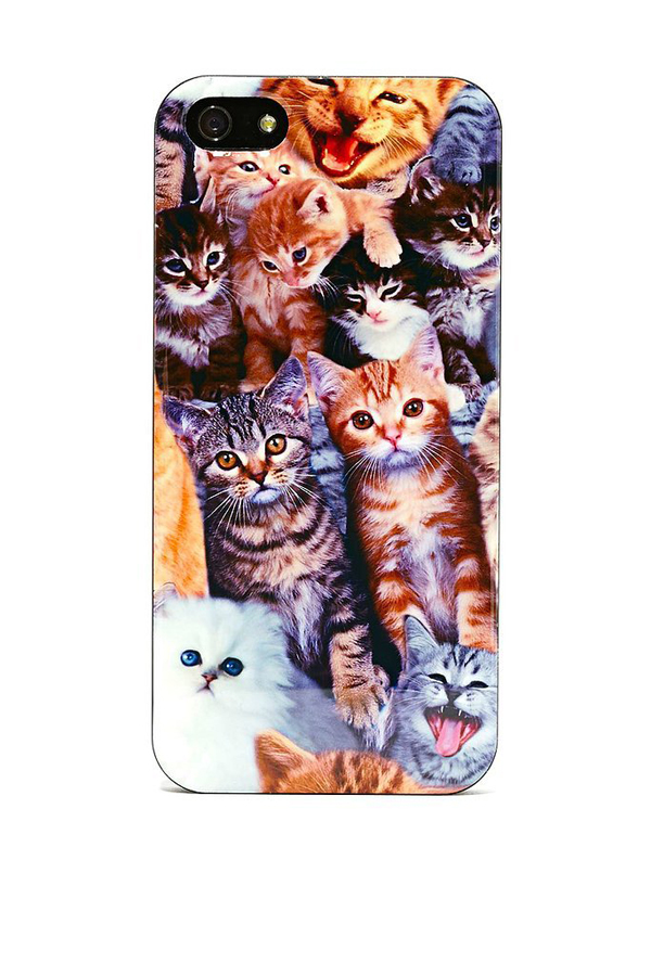 Let see how many cats can you fit onto one iPhone 5 case Mac mac maske za telefon