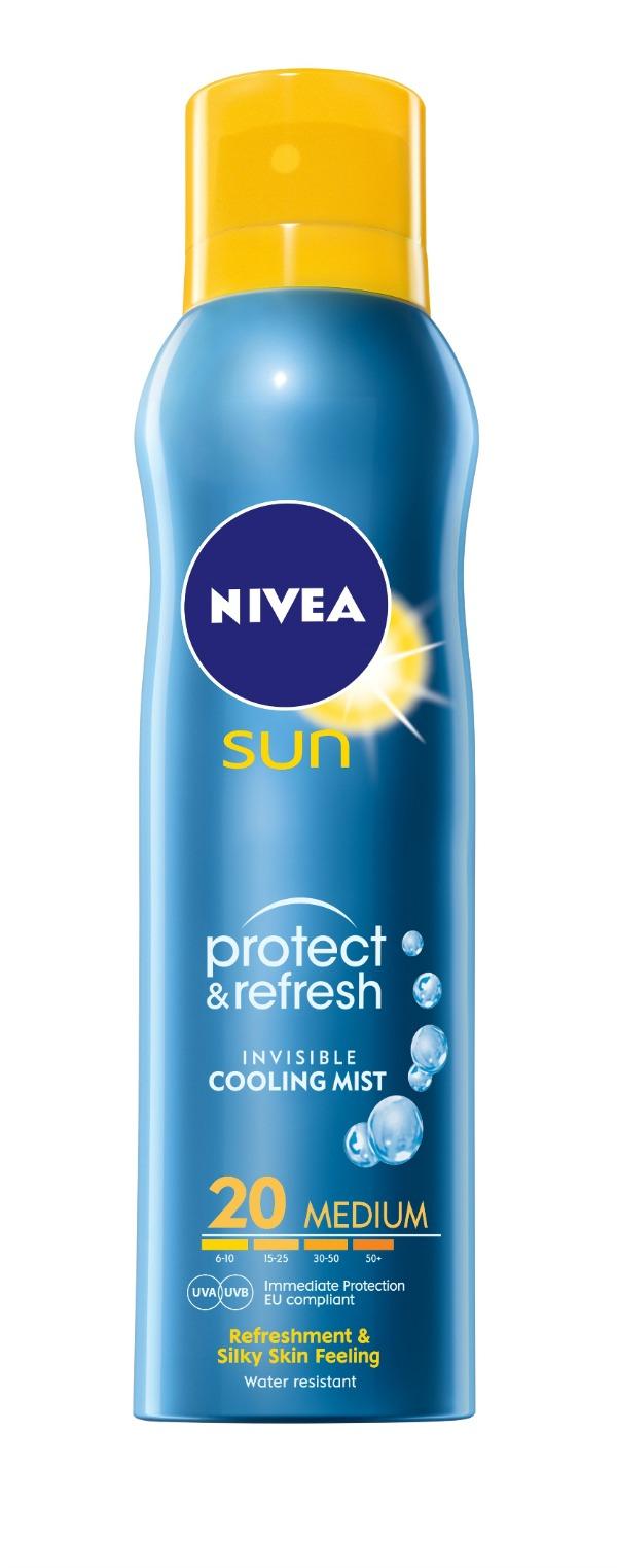 NIVEA Sun Protect + Refresh Spray SPF 20 Prijatna 3 u 1 zaštita od sunca