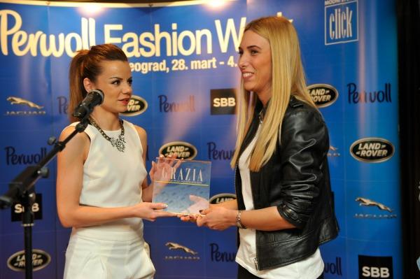 aleksandra markovic i diyajnerka iz brenda Klasa 1 Svečana dodela nagrada povodom završetka 35. Perwoll Fashion Weeka