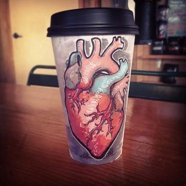 coffee cups 11 Najinteresantniji crteži na kafama