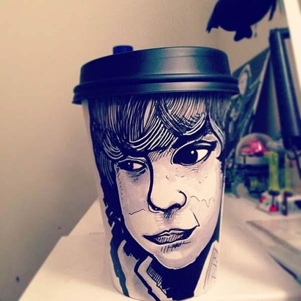 coffee cups 13 Najinteresantniji crteži na kafama